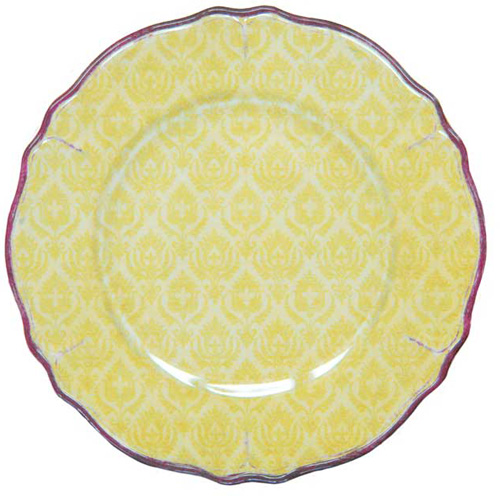 LeCadeux 207 Louis Yellow Dinner PLate