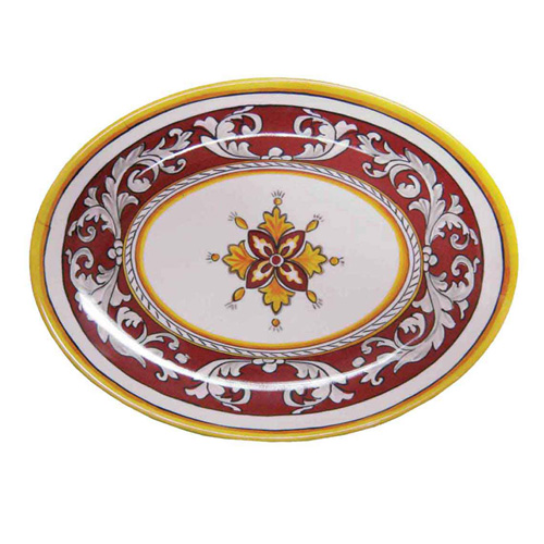 LeCadeux 166 Malaga Red Oval Platter