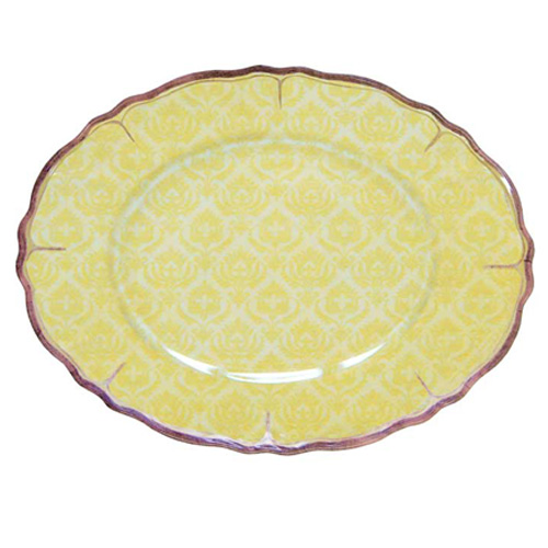 Le Cadeux 266 Louis Yellow Oval Platter