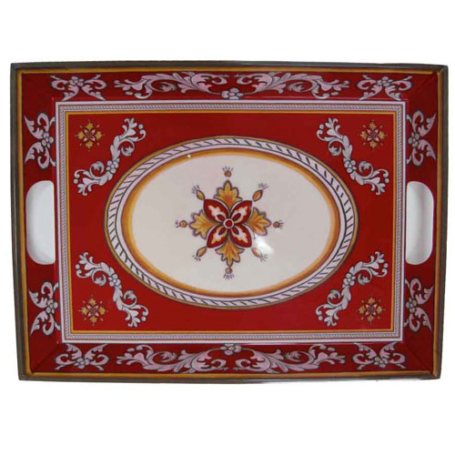 Le Cadeaux 801 Malaga Red Large Serving Tray