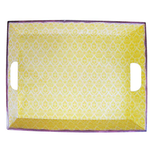 Le Cadeaux 801 Louis Yellow Large Serving Tray