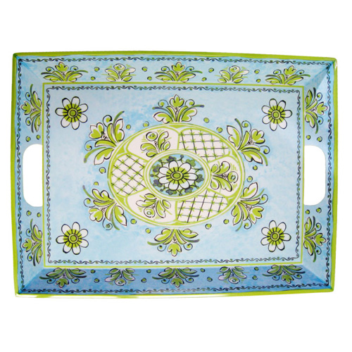 Le Cadeaux 801 Benidorm Blue  Large Serving Tray