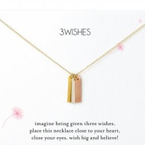Dogeared 3 Wishes Bar Necklace