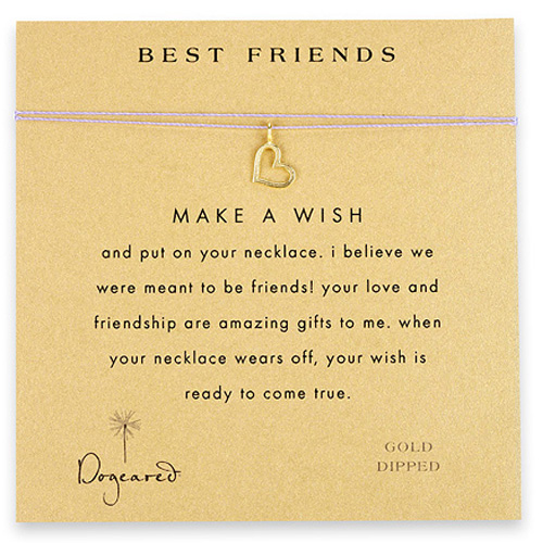 Dogeared Best Friends Necklace in Gold