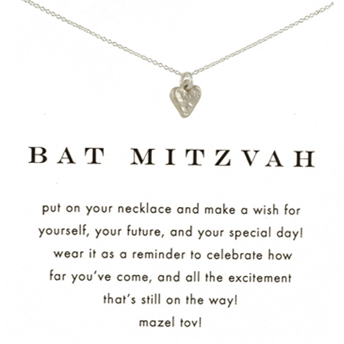 Dogeared Bat Mitzvah Necklace in Silver