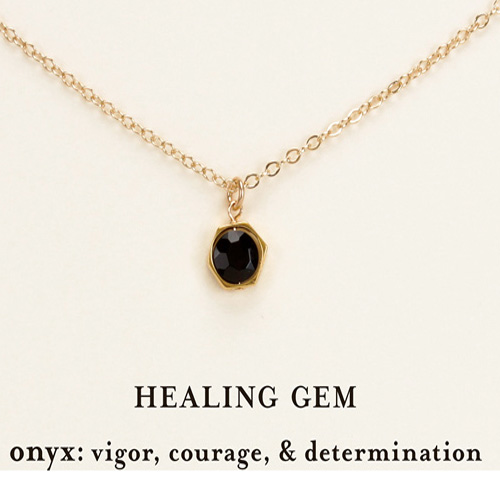 Dogeared Healing Gem Onyx Necklace