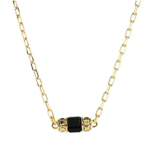 Judith Leiber Ann Baguette Station Necklace
