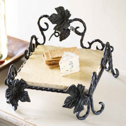 Mudpie Grapevine Forged Holder with Marble Insert