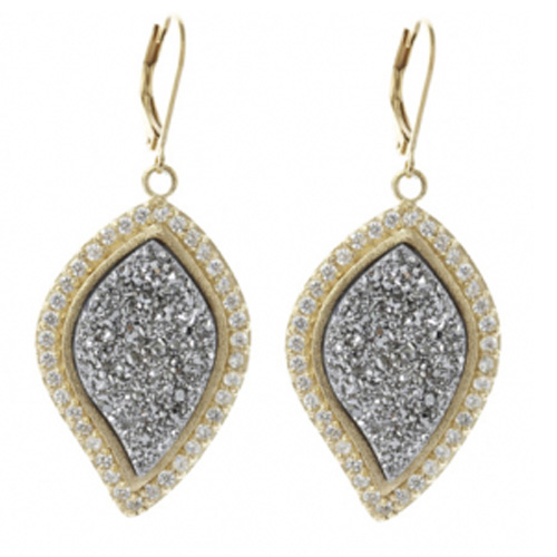 Marcia Moran Medium Sized Druzy Drop Earring