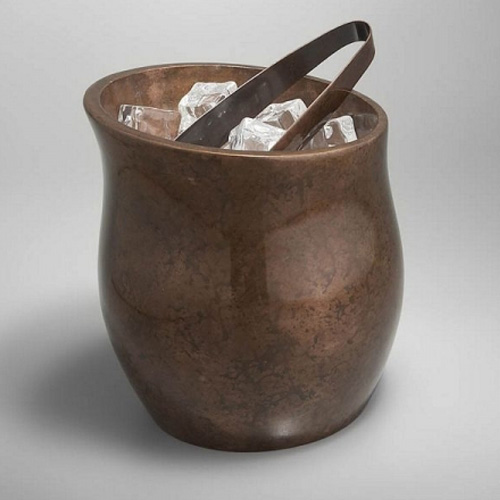 Nambe Heritage Curve Ice Bucket with Tongs (MT0448)
