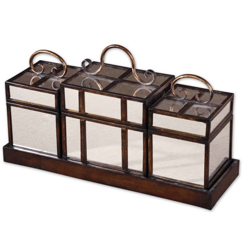 Preston Boxes and Tray- set of 4