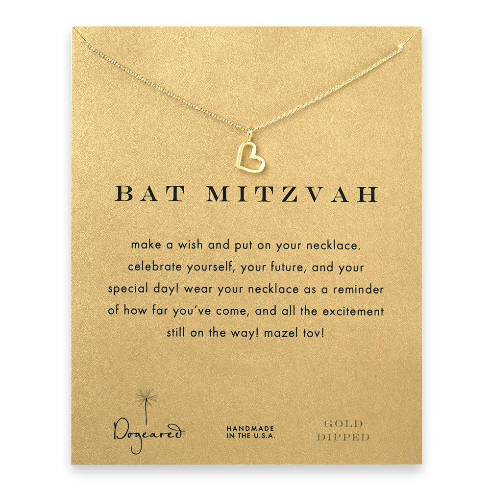 Dogeared Bat Mitzvah Necklace in Gold