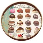 Au Chocolate Wooden Decoupage Round Tray