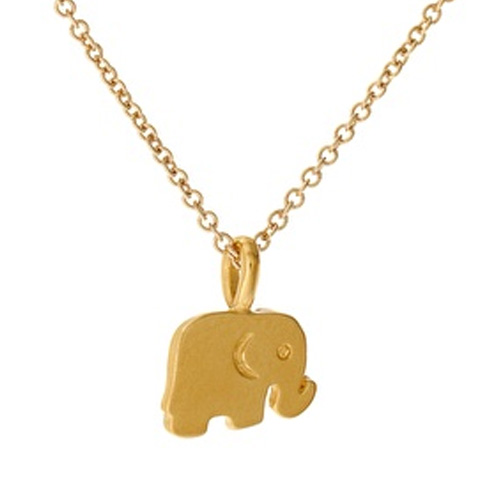 Dogeared Good Luck Reminder Necklace with Elephant