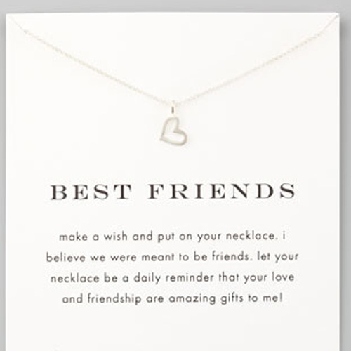 Dogeared Best Friends Necklace in Silver