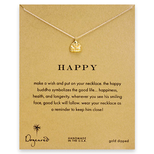 Dogeared Happy Reminder Necklace with Buddha