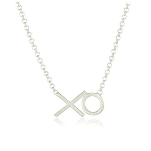 Dogeared Hugs & Kisses Necklace in Silver