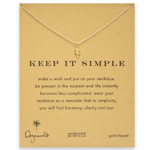 Dogeared Keep it Simple Necklace in Gold