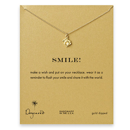 Dogeared Smile Reminder Necklace