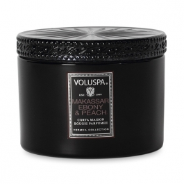 Volupsa Makassar Ebony & Peach Candle