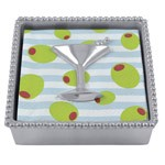 Mariposa Martini Beaded Napkin Box