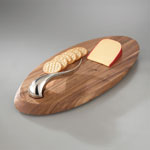 Nambe Swoop Cheeseboard with Knife(5014)